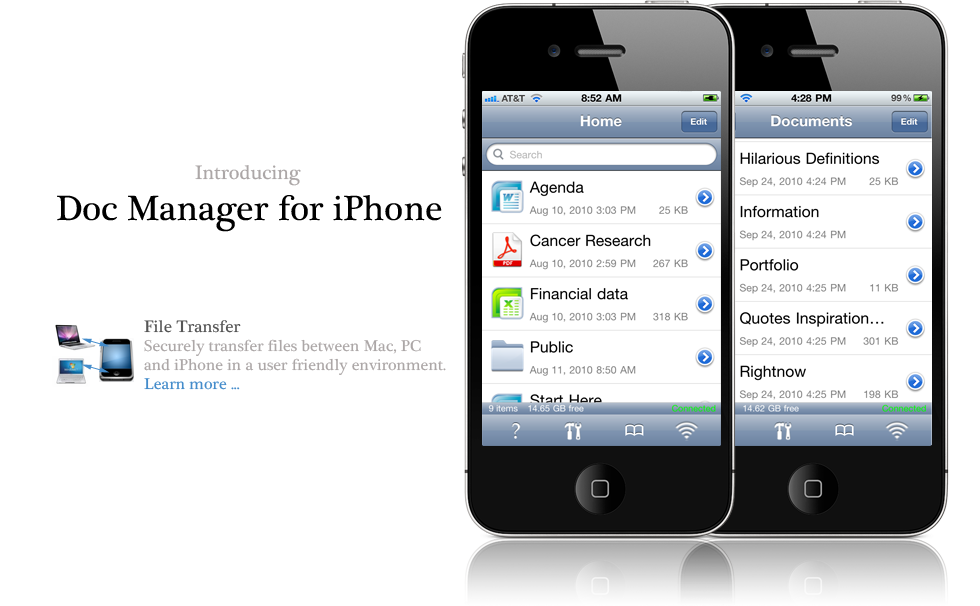 business app for iPhone, productivity application
